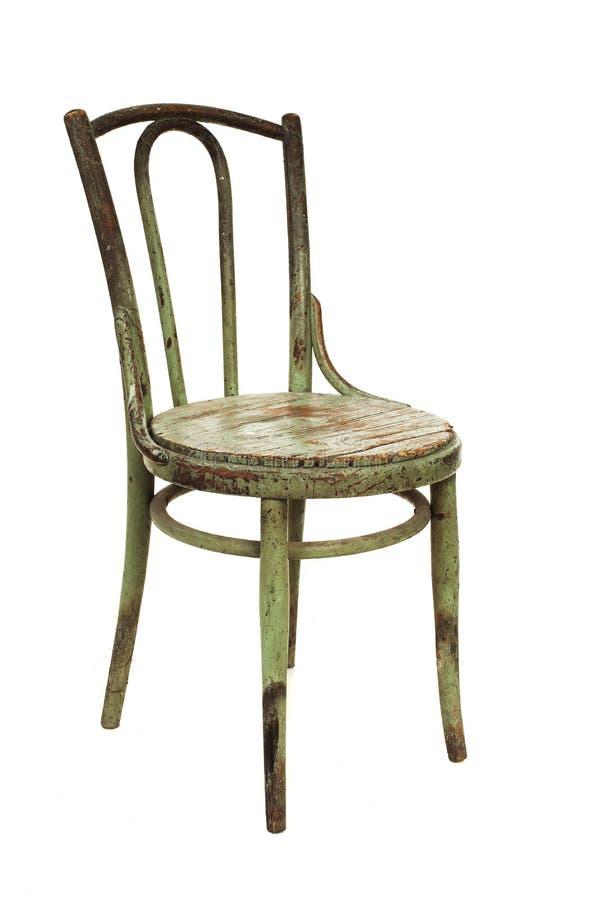 Oude houten stoel royalty-vrije stock afbeelding