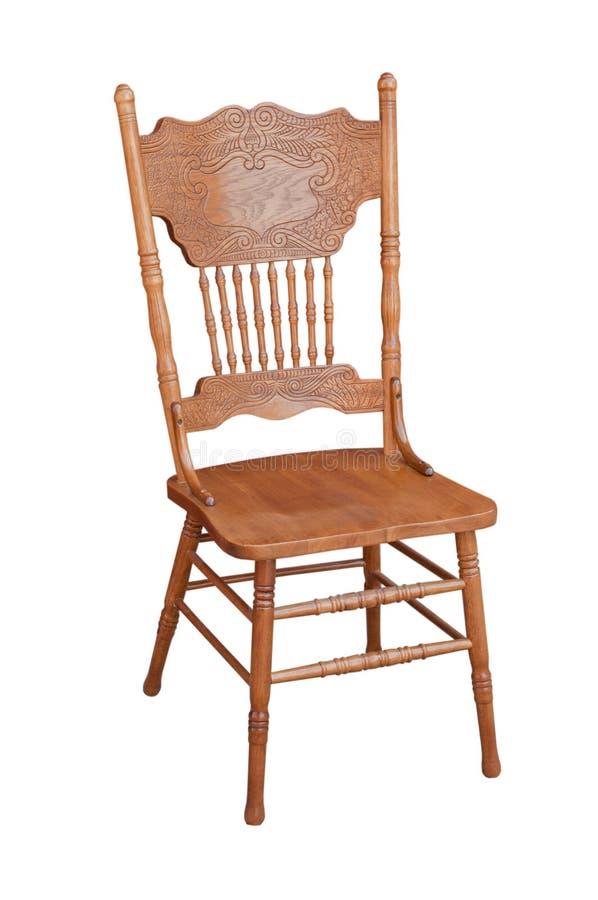 Oude houten stoel stock afbeelding
