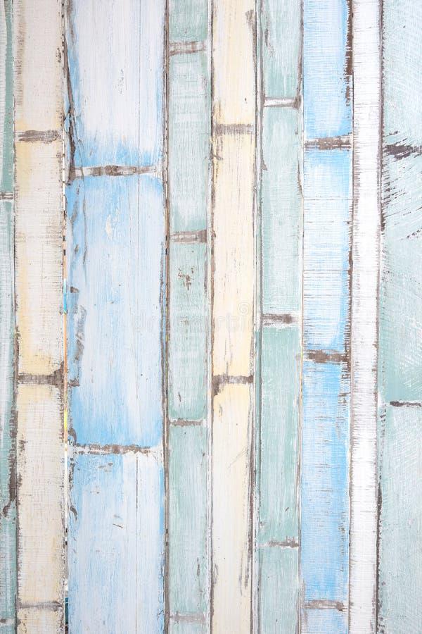 Oude houten textuur en achtergrond in de uitstekende kleur van de toonmengeling stock afbeelding