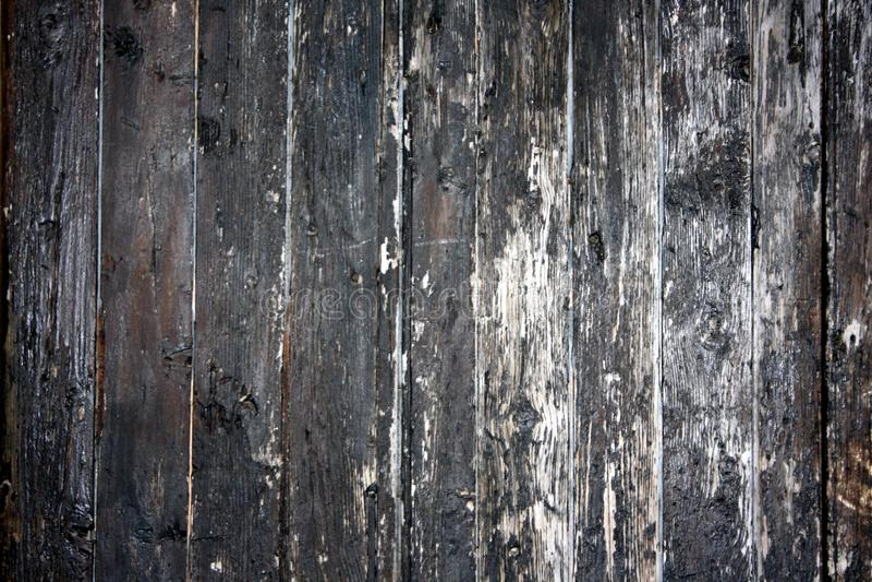 Oude, houten textuur, met barsten in de verf en de aders van het hout zelf royalty-vrije stock foto