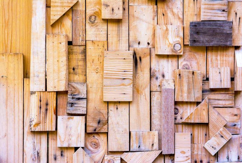 Oude houten textuur van de muur van stukkenpallets voor achtergrond royalty-vrije stock afbeelding