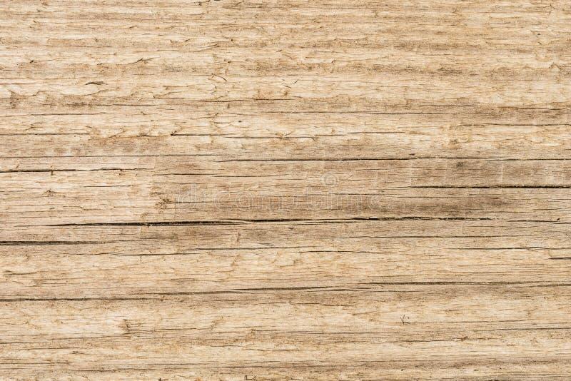 Oude houten textuurachtergrond, structuur van een natuurlijke onbehandelde houten oppervlakte met schilvezels en barsten stock fotografie
