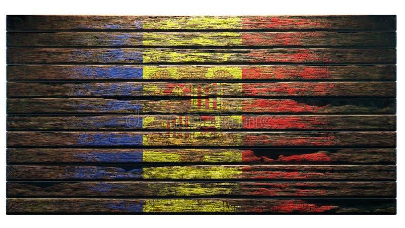 Oude houten textuurapocalyps als achtergrond vector illustratie