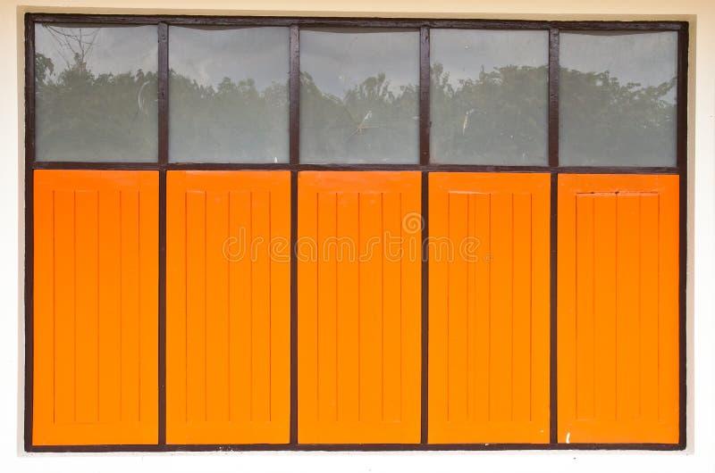 Oude houten vensters royalty-vrije stock foto