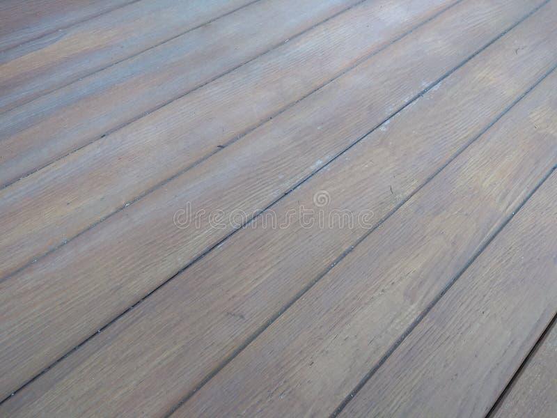 Oude houten vloer omdat het oud heeft overgegaan royalty-vrije stock foto