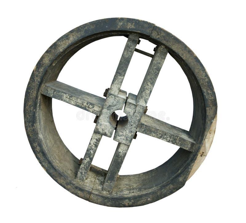 Oude houten vorm voor het wiel van de riemaandrijving royalty-vrije stock foto's