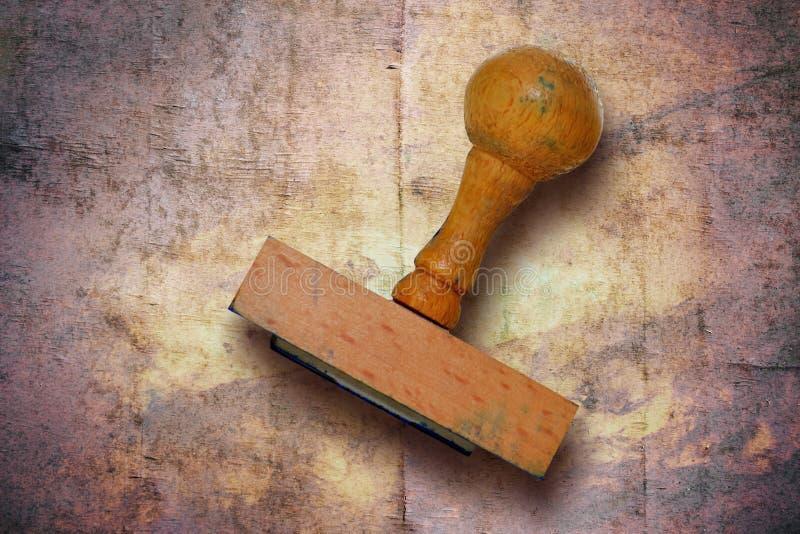 Oude houten zegel royalty-vrije stock foto