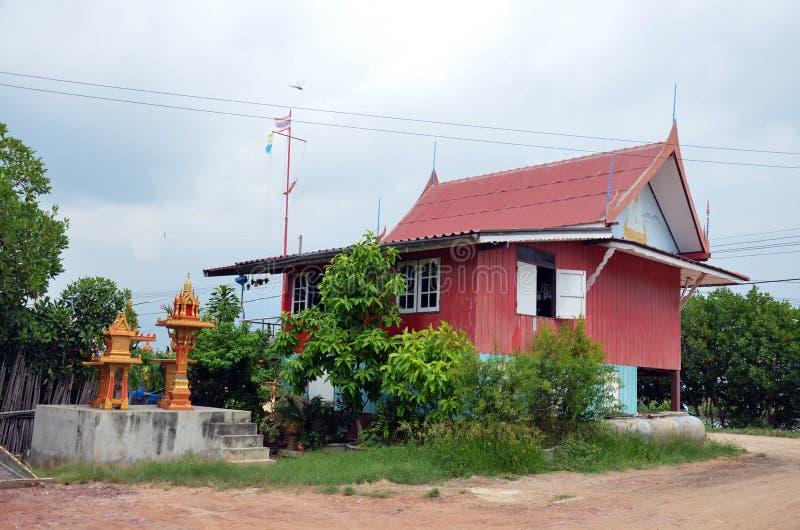 Oude Huis Thaise stijl bij Klap Khun Thian in Bangkok, Thailand royalty-vrije stock foto