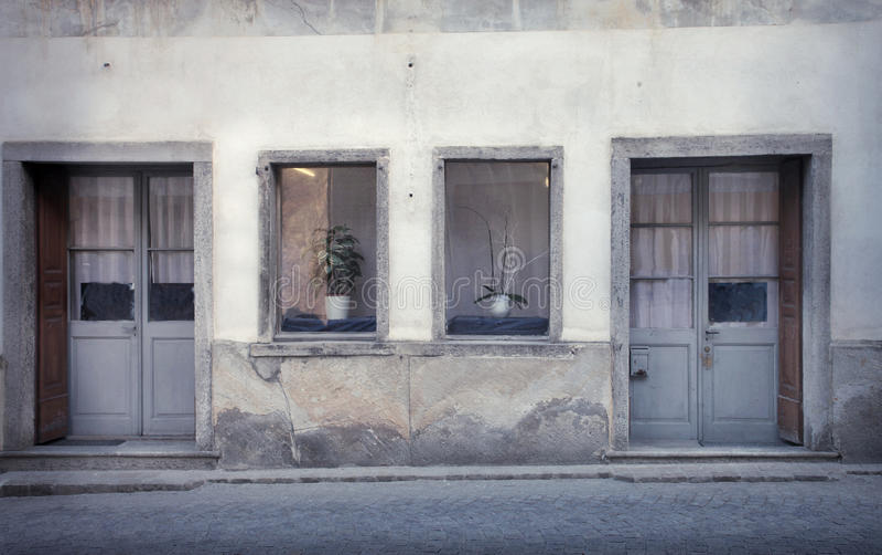 Oude huizen stock foto's