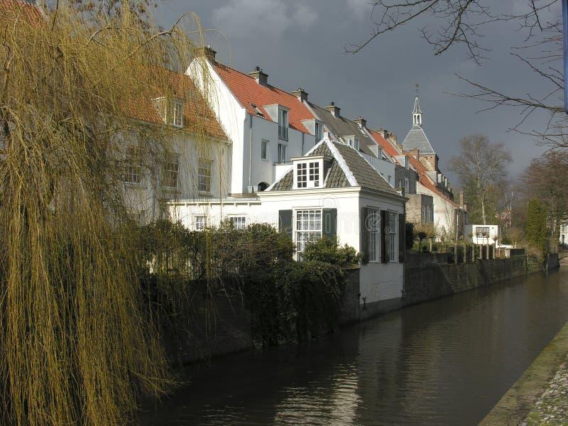 Oude huizen royalty-vrije stock fotografie
