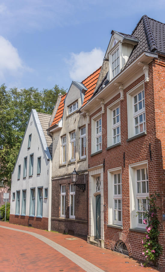 Oude huizen in het centrum van Koeloven, Duitsland royalty-vrije stock foto