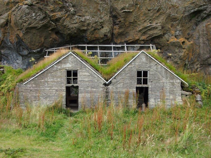 Oude huizen in IJsland stock foto