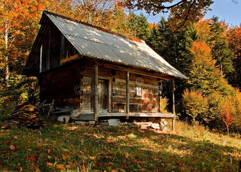 Oude hut royalty-vrije stock fotografie
