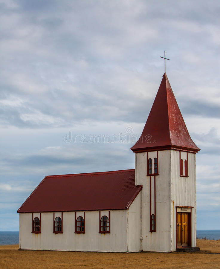 Oude Ijslandse Kerk stock foto's