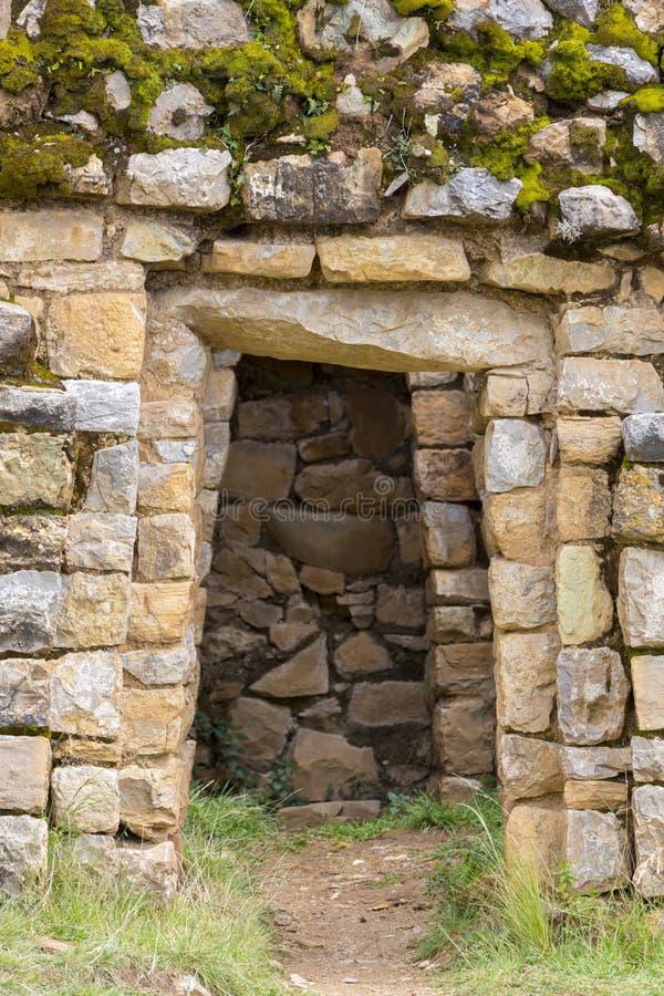 Oude Incan-ruïnes op Isla del Sol op Meer Titicaca in Bolivië stock fotografie