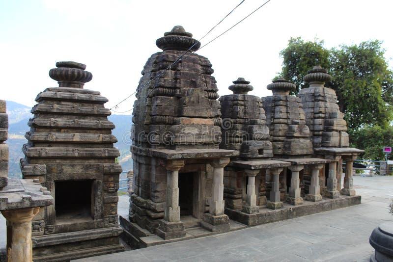 Oude Indiase Stone Architectuur met prachtig design stock fotografie