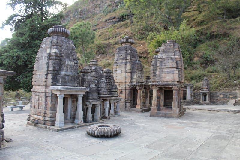 Oude Indiase tempel met een mooie architectuur stock foto