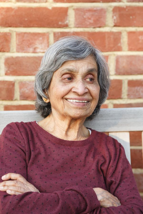 Oude Indische vrouw stock foto's