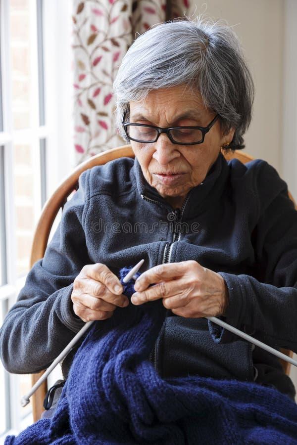 Oude Indische vrouw stock afbeelding