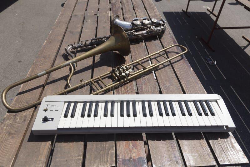 Oude instrumenten stock foto's