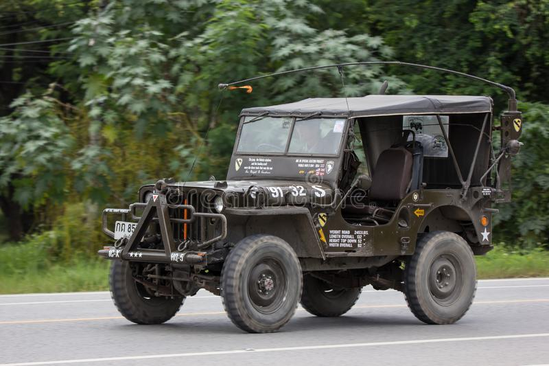 Oude Jeep Private-auto stock afbeeldingen