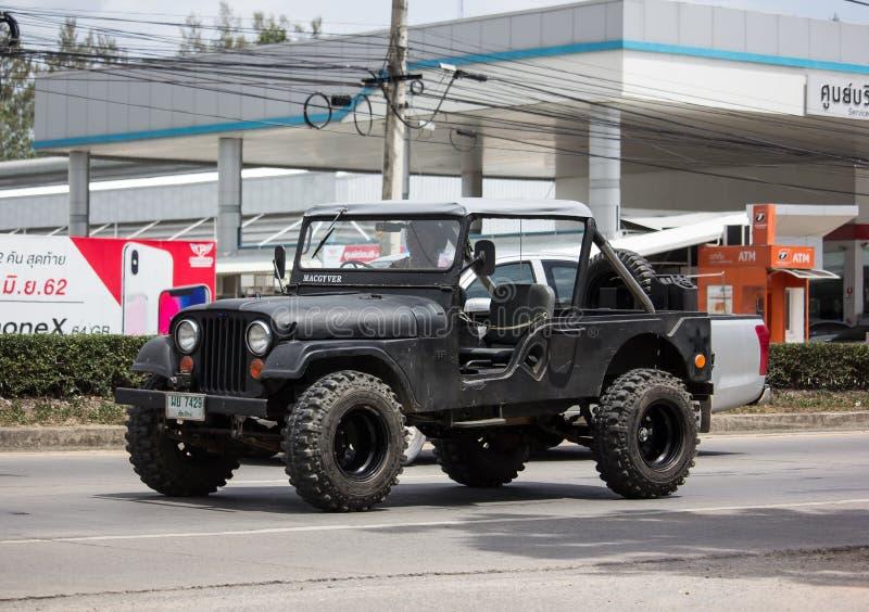 Oude Jeep Private-auto royalty-vrije stock fotografie