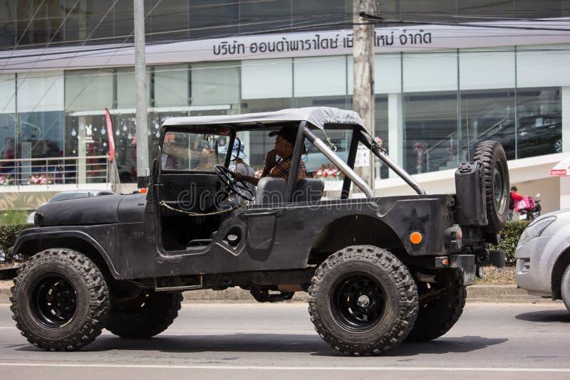 Oude Jeep Private-auto royalty-vrije stock foto's