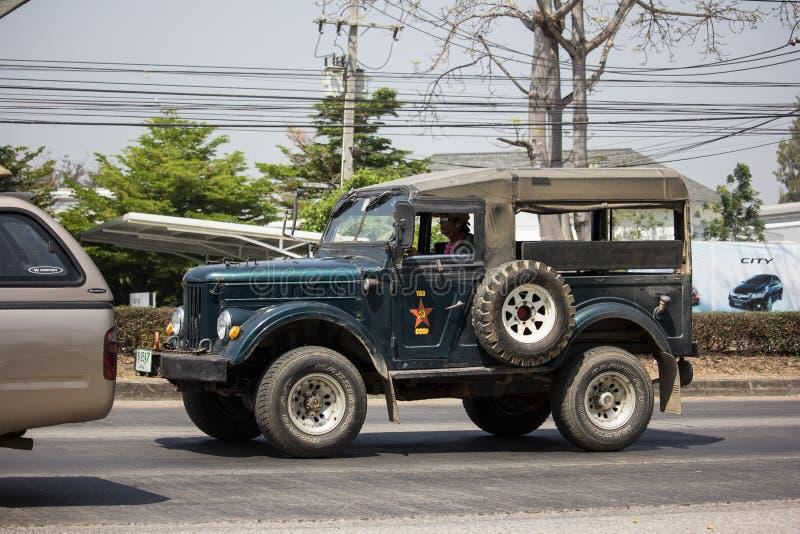 Oude Jeep Private-auto royalty-vrije stock foto