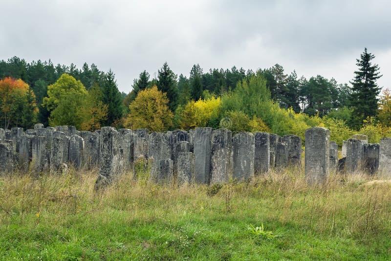 Oude Joodse begraafplaats, Brody, de Oekraïne stock afbeeldingen