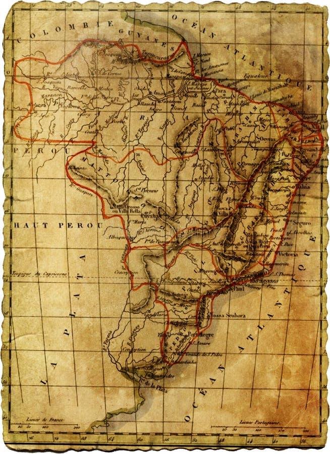 Oude kaart stock fotografie