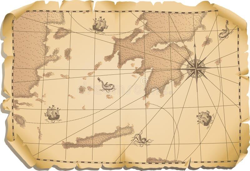 Download Oude kaart vector illustratie. Afbeelding bestaande uit cultuur - 3183912