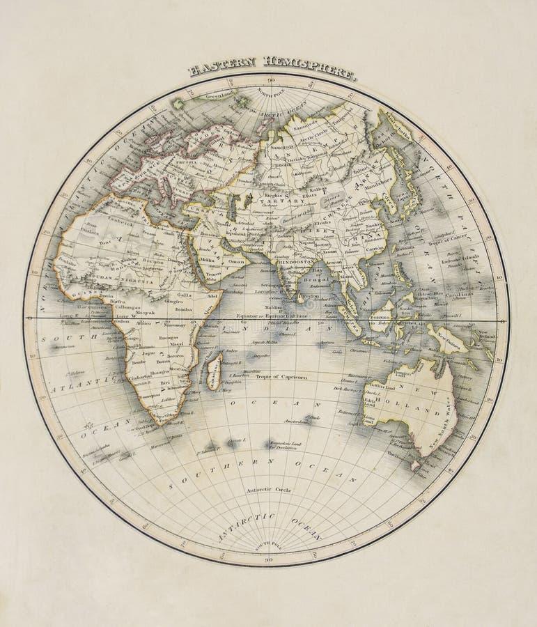 Oude kaart van de wereld royalty-vrije stock fotografie