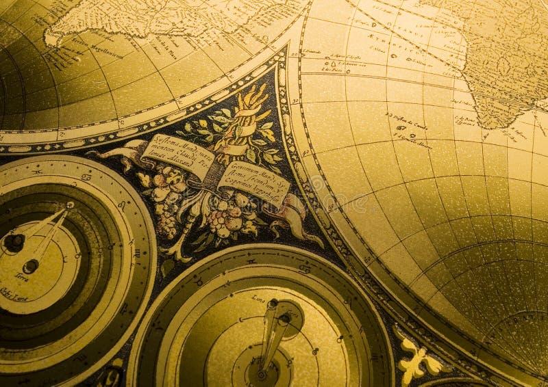 Oude kaart van de wereld royalty-vrije stock foto