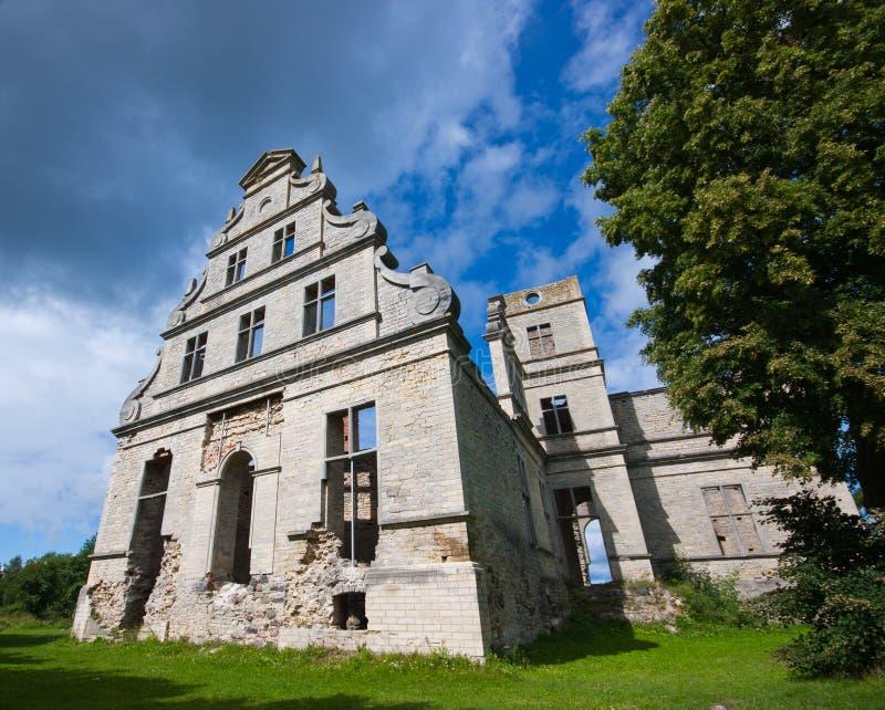 Oude kasteelruïnes royalty-vrije stock foto's