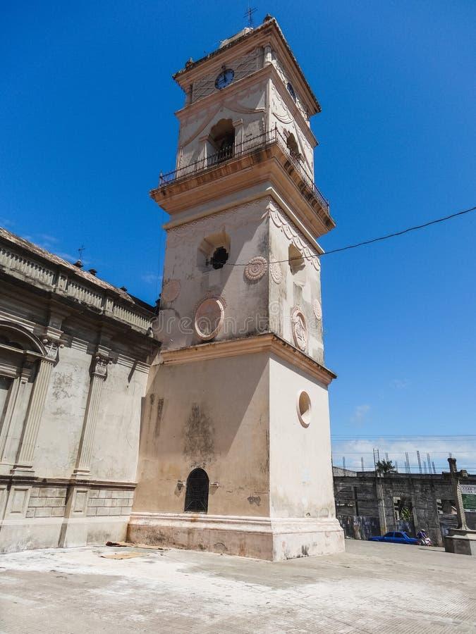 Oude kathedraal van Managua in Nicaragua oktober stock afbeelding