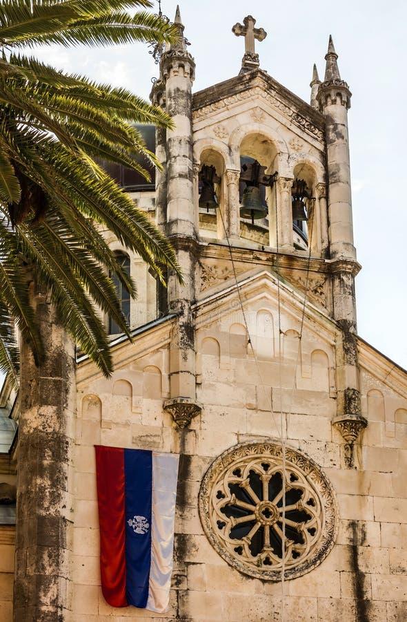 Oude Kathedraalkerk in Kotor, Montenegro stock afbeeldingen
