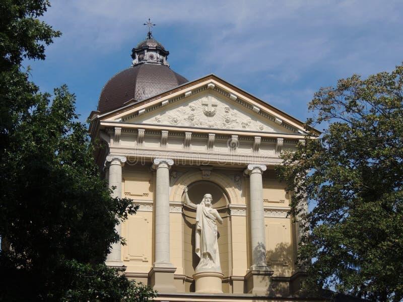 Oude Katholieke Kerk St Vitus, Hilversum, Nederland stock afbeelding
