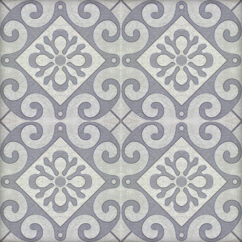 Oude keramische tegelspatronen stock illustratie