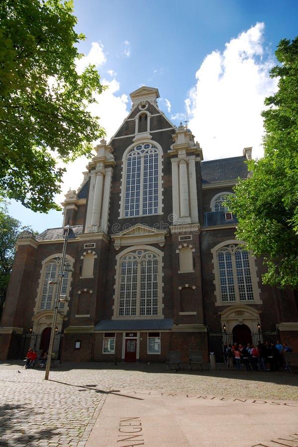 Oude Kerk in Amsterdam stock images