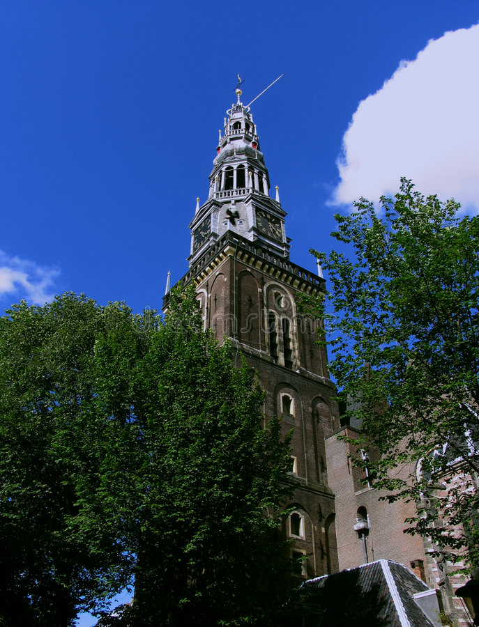 Oude Kerk-Amsterdam photographie stock