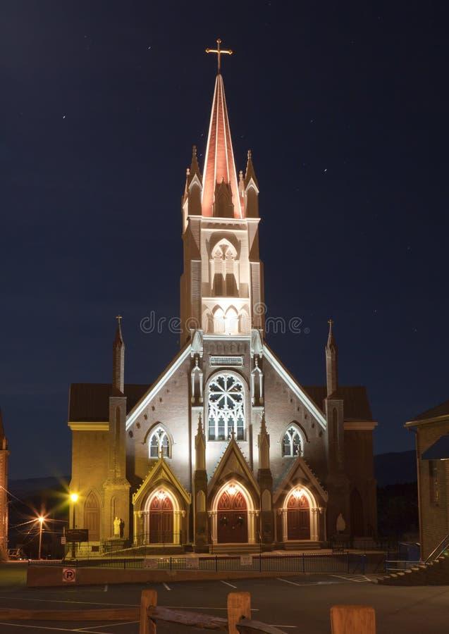 Oude Kerk bij Nacht royalty-vrije stock foto