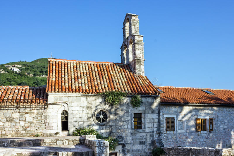 Oude kerk in Budva, Montenegro royalty-vrije stock foto