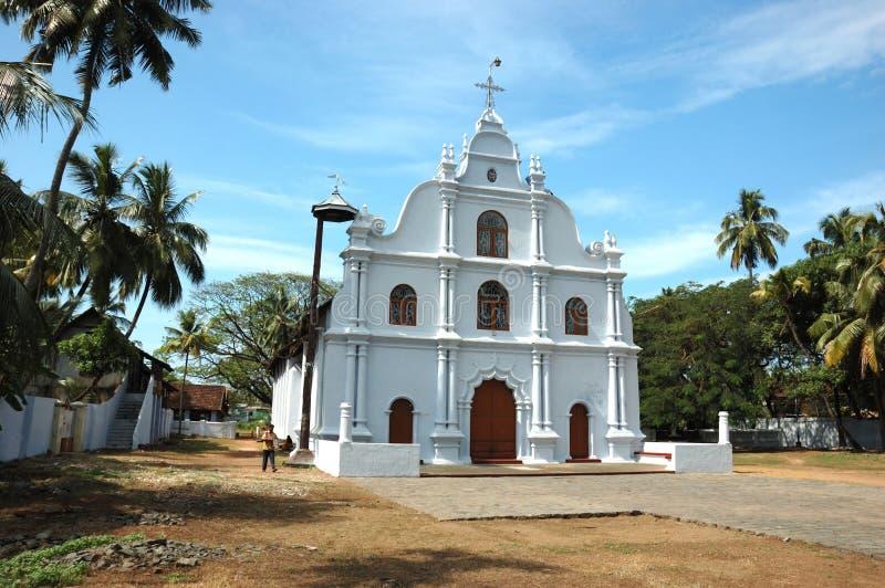 Oude kerk in Cochin, Kerala, India royalty-vrije stock afbeelding