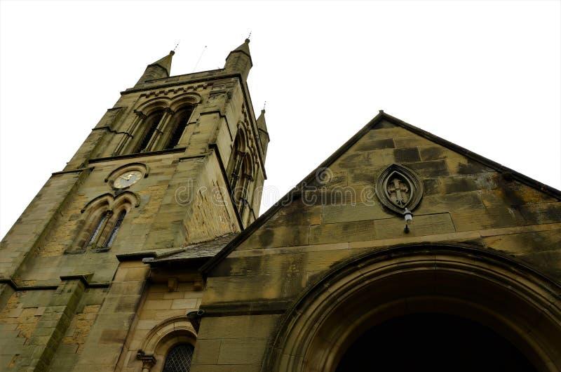 Oude Kerk in de Oriëntatiepunten van Helmsley - North Yorkshire- stock afbeelding