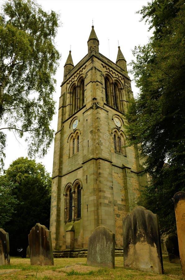 Oude Kerk in de Oriëntatiepunten van Helmsley - North Yorkshire- stock fotografie