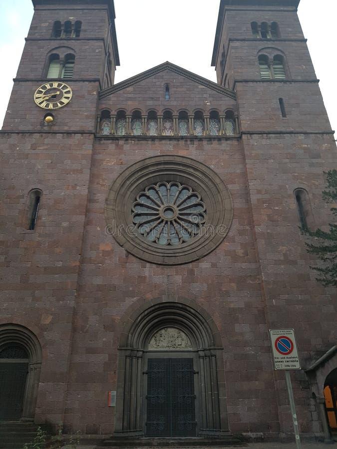 Oude Kerk in de Zomer van 2017 van Italië stock foto's