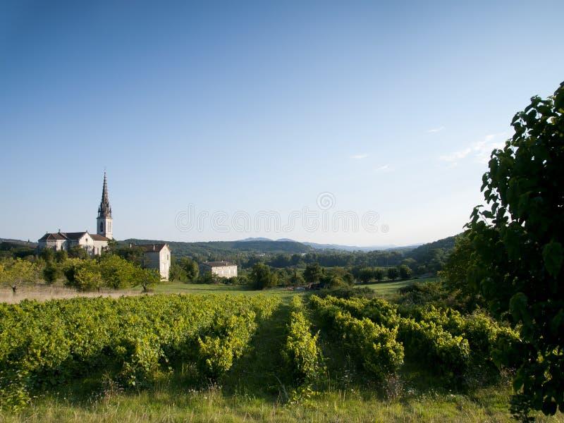 Oude kerk in een Frans landschap royalty-vrije stock foto's