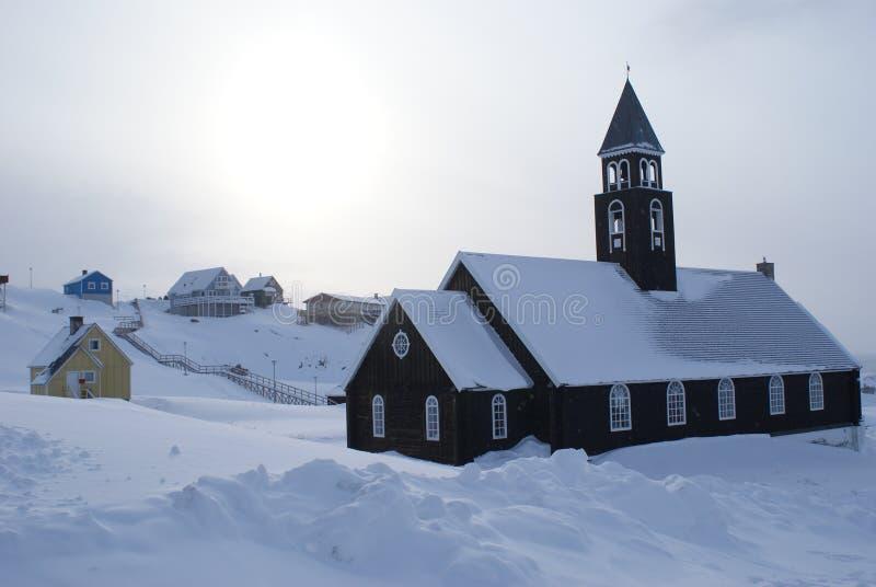 Oude Kerk in Ilulissat, Groenland royalty-vrije stock fotografie