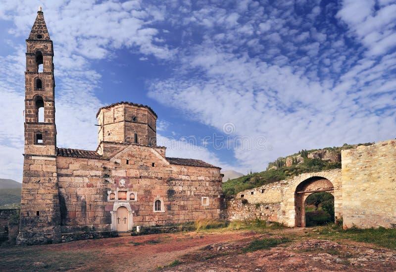 Oude kerk in Mani, Griekenland royalty-vrije stock afbeeldingen