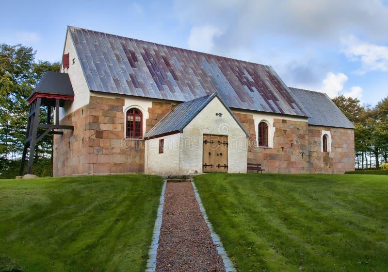 Oude kerk Oester Vandet, Denemarken royalty-vrije stock fotografie